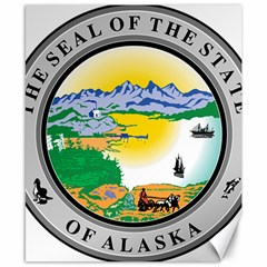 State Seal Of Alaska  Canvas 8  X 10  by abbeyz71