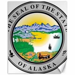 State Seal Of Alaska  Canvas 16  X 20