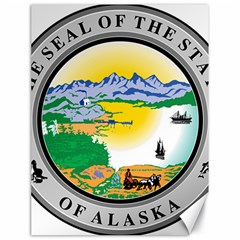 State Seal Of Alaska  Canvas 18  X 24