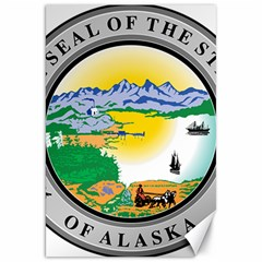 State Seal Of Alaska  Canvas 20  X 30