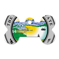 State Seal Of Alaska  Dog Tag Bone (two Sides)