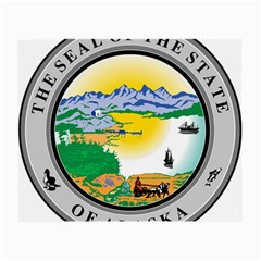 State Seal Of Alaska  Small Glasses Cloth (2 Side) by abbeyz71