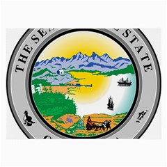 State Seal Of Alaska  Large Glasses Cloth by abbeyz71