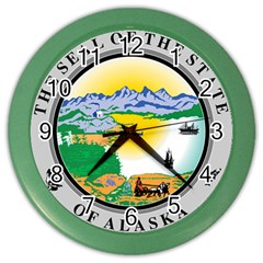 State Seal Of Alaska  Color Wall Clock