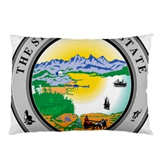 State Seal Of Alaska  Pillow Case by abbeyz71