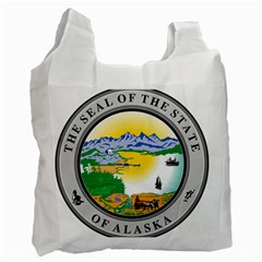 State Seal Of Alaska  Recycle Bag (one Side) by abbeyz71