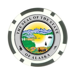 State Seal Of Alaska  Poker Chip Card Guard (10 Pack)