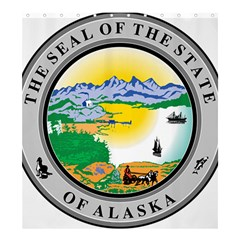 State Seal Of Alaska  Shower Curtain 66  X 72  (large)