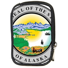 State Seal Of Alaska  Compact Camera Leather Case by abbeyz71