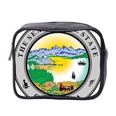 State Seal Of Alaska  Mini Toiletries Bag (two Sides)