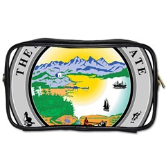 State Seal Of Alaska  Toiletries Bag (two Sides)