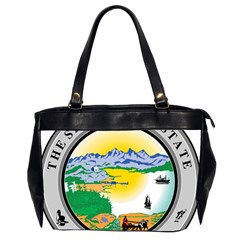 State Seal Of Alaska  Oversize Office Handbag (2 Sides) by abbeyz71