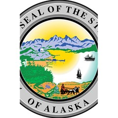 State Seal Of Alaska  5 5  X 8 5  Notebook
