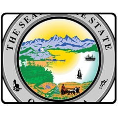 State Seal Of Alaska  Fleece Blanket (medium)  by abbeyz71