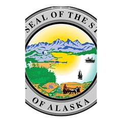 State Seal Of Alaska  Shower Curtain 48  X 72  (small)