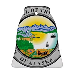 State Seal Of Alaska  Bell Ornament (two Sides) by abbeyz71
