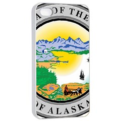 State Seal Of Alaska  Apple Iphone 4/4s Seamless Case (white)