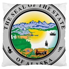 State Seal Of Alaska  Large Cushion Case (two Sides) by abbeyz71