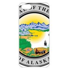 State Seal Of Alaska  Apple Iphone 5 Seamless Case (white)
