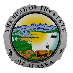 State Seal Of Alaska  Large 18  Premium Round Cushions by abbeyz71