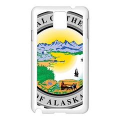 State Seal Of Alaska  Samsung Galaxy Note 3 N9005 Case (white) by abbeyz71