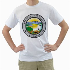 State Seal Of Alaska  Men s T Shirt (white)