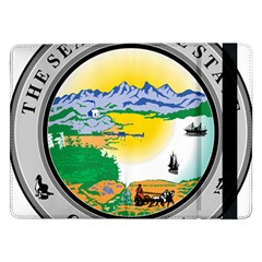 State Seal Of Alaska  Samsung Galaxy Tab Pro 12 2  Flip Case by abbeyz71