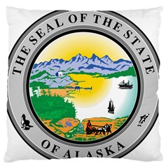 State Seal Of Alaska  Large Flano Cushion Case (one Side) by abbeyz71