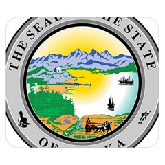 State Seal Of Alaska  Double Sided Flano Blanket (small)  by abbeyz71