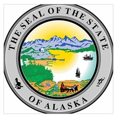 State Seal Of Alaska  Large Satin Scarf (square)
