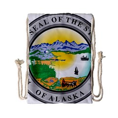 State Seal Of Alaska  Drawstring Bag (small) by abbeyz71