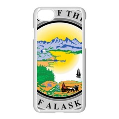 State Seal Of Alaska  Apple Iphone 8 Seamless Case (white)