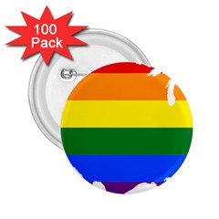 Usa Lgbt Flag Map 2 25  Buttons (100 Pack)