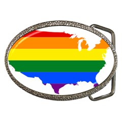 Usa Lgbt Flag Map Belt Buckles by abbeyz71