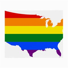 Usa Lgbt Flag Map Small Glasses Cloth (2 Side) by abbeyz71