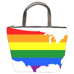 Usa Lgbt Flag Map Bucket Bag