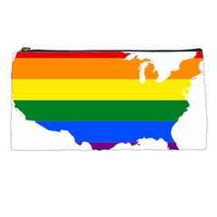 Usa Lgbt Flag Map Pencil Cases by abbeyz71