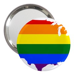 Usa Lgbt Flag Map 3  Handbag Mirrors by abbeyz71