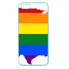 Usa Lgbt Flag Map Apple Seamless Iphone 5 Case (color)