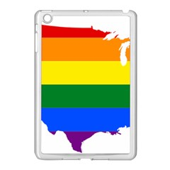 Usa Lgbt Flag Map Apple Ipad Mini Case (white) by abbeyz71