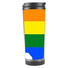 Usa Lgbt Flag Map Travel Tumbler by abbeyz71