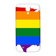 Usa Lgbt Flag Map Samsung Galaxy S4 I9500/i9505  Hardshell Back Case