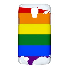 Usa Lgbt Flag Map Samsung Galaxy S4 Active (i9295) Hardshell Case