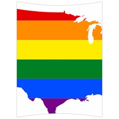 Usa Lgbt Flag Map Back Support Cushion