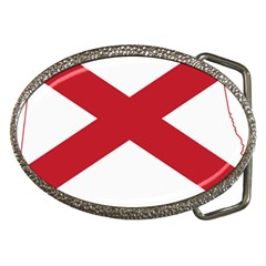 Flag Map Of Alabama Belt Buckles by abbeyz71
