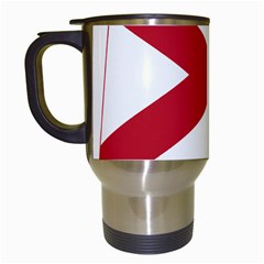 Flag Map Of Alabama Travel Mugs (white) by abbeyz71