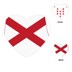 Flag Map Of Alabama Playing Cards (heart) by abbeyz71
