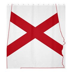 Flag Map Of Alabama Shower Curtain 66  X 72  (large)  by abbeyz71