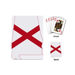Flag Map Of Alabama Playing Cards (mini) by abbeyz71