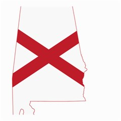 Flag Map Of Alabama Small Garden Flag (two Sides) by abbeyz71